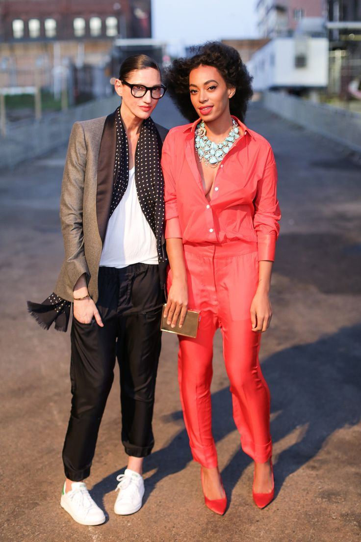 Jenna Lyons and Solange Knowles at the Creative Time Spring Gala. - Both of these looks are comfy chic
