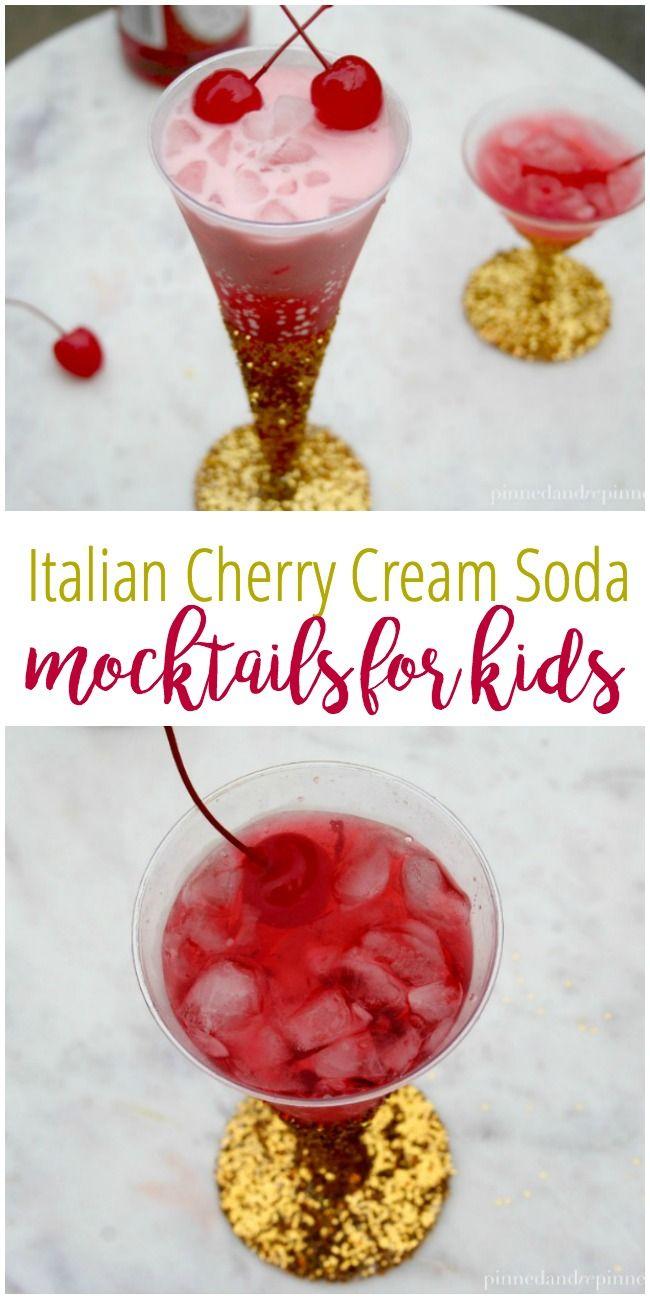 Italian Cherry Cream Soda - Mocktails for Kids via @PINNED AND REPINNED