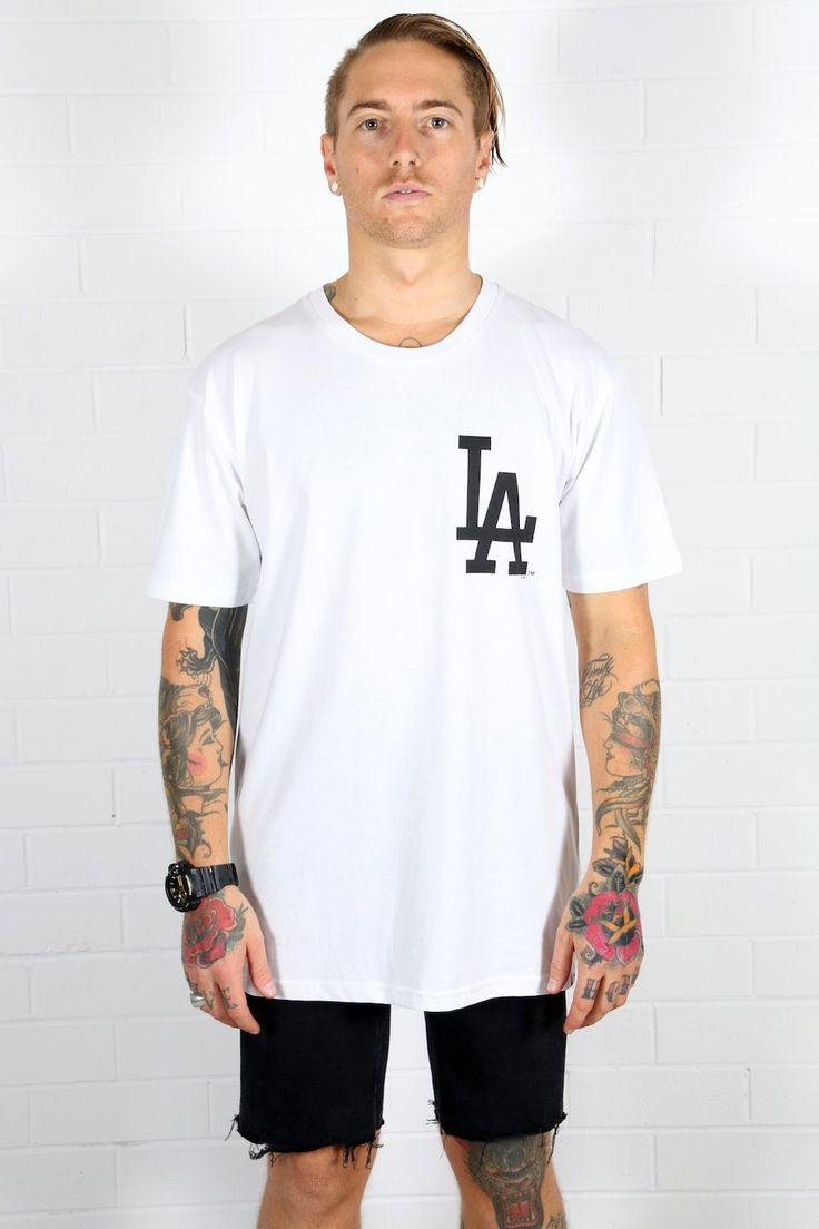 MAJESTIC ATHLETIC - La Dodgers Logo Tee - White