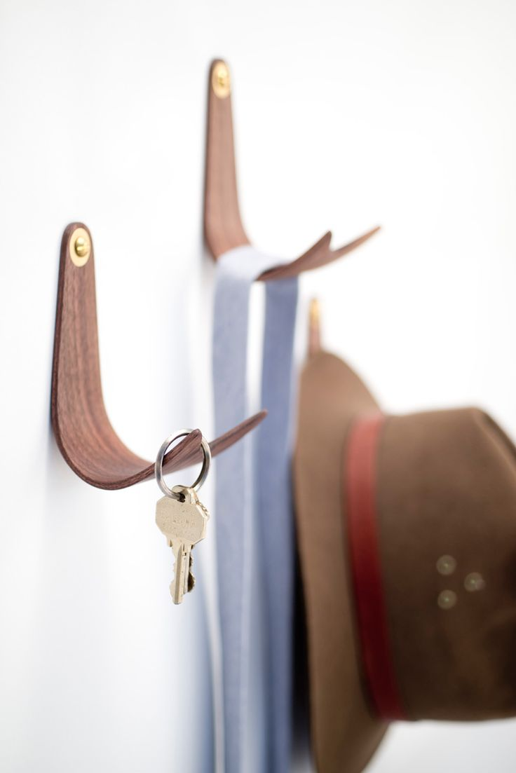Domenic Fiorello Designs A Simple Wall Hook Made From Bent Wood