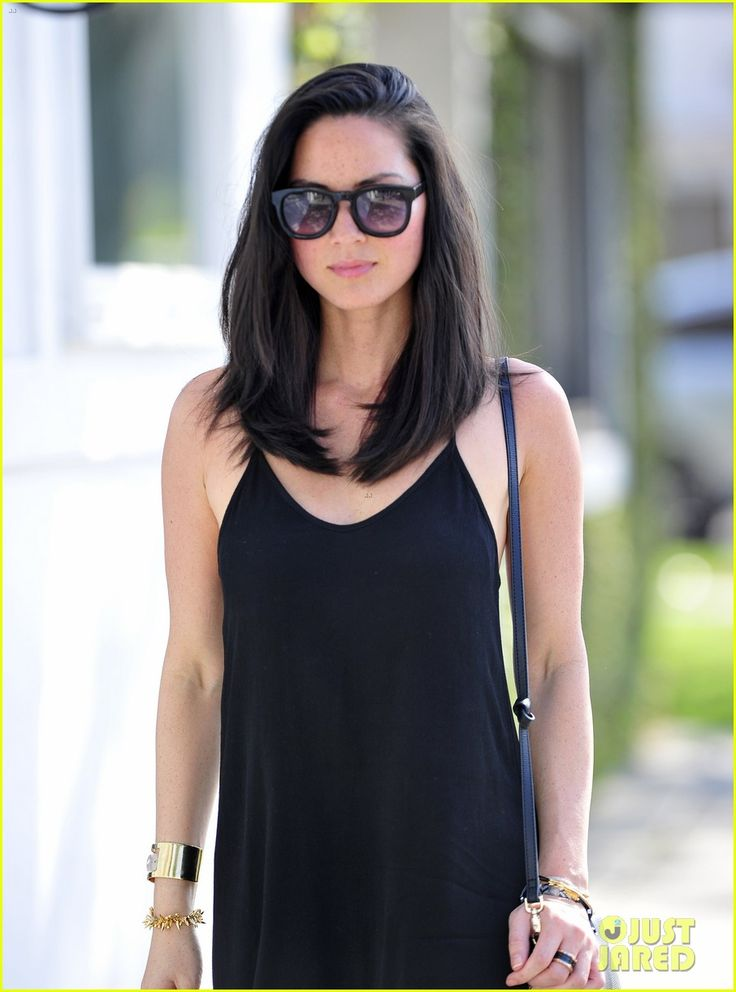 Olivia Munn, mid-length hairstyle #hair #beauty