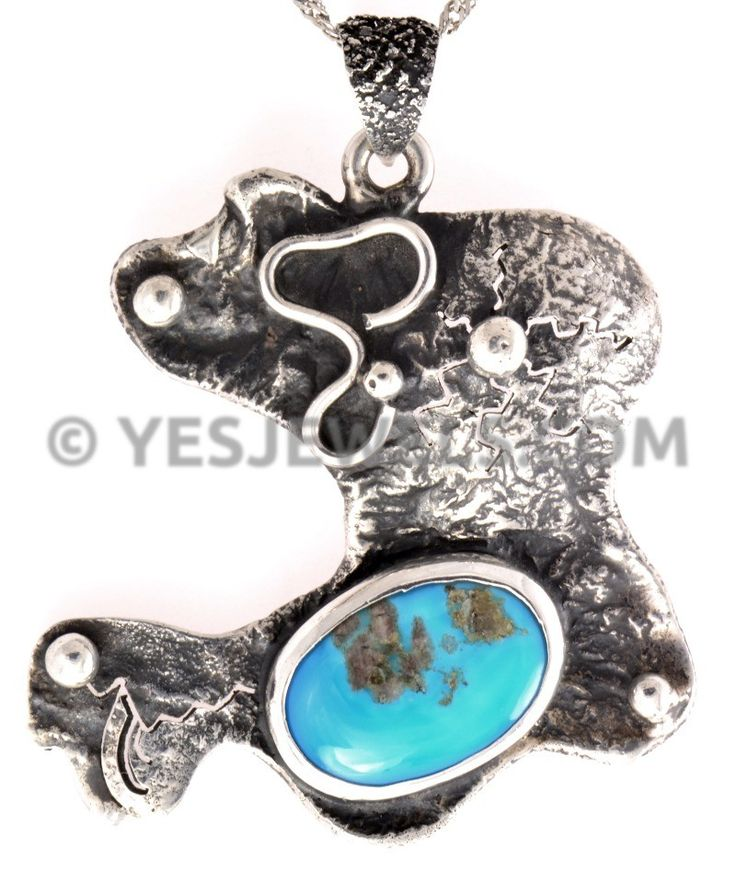 Sterling silver handmade turquoise pendant. %100 handmade! on www.yesjewels.com best silver shopping store on the planet :)