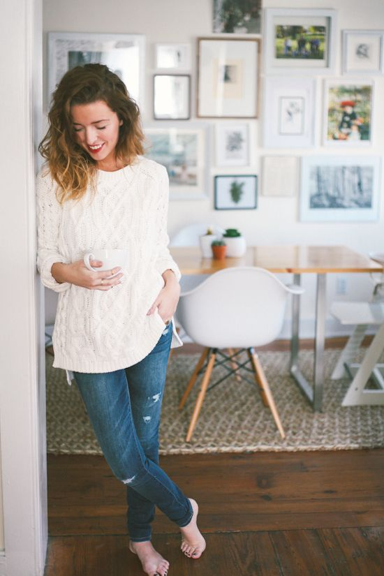 The Daybook // Adorable daytime clothes... complete with red lipstick.
