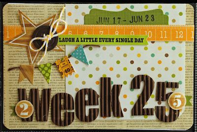 Pickled Paper Designs: Project Life, Week 25; love this title card
