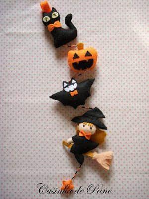 Moldes para hacer brujitas de fieltro para halloween05