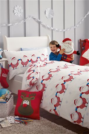 Santa All-In-One Printed Bed Set