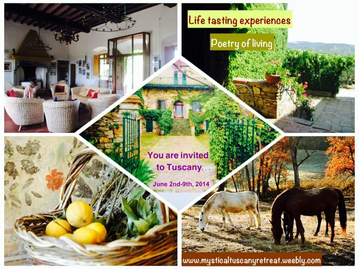 Join us in Tuscany next summer.   Register now with first deposit @ www.mysticaltuscanyretreat.weebly.com
