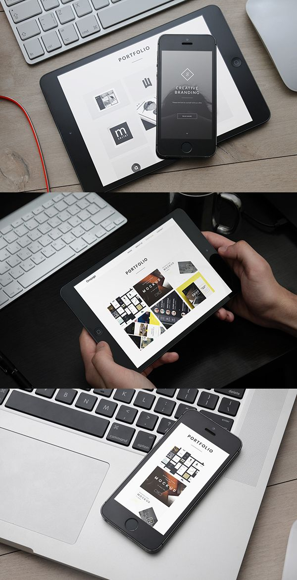 iPhone 6 and iPad Mini Presentation Mockup