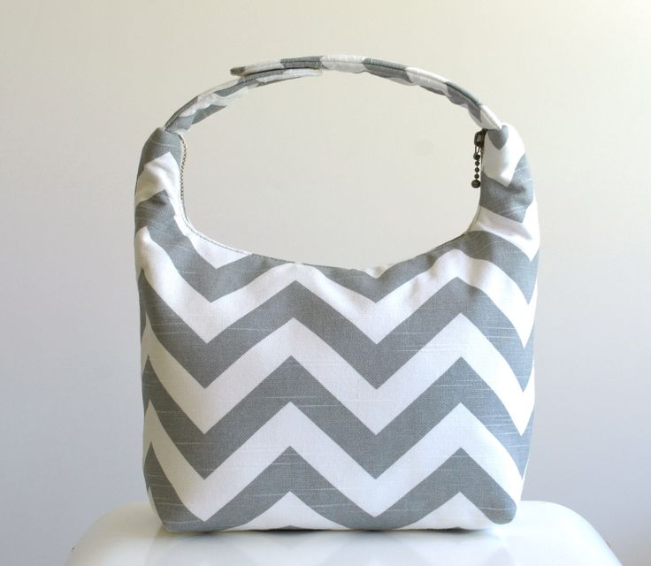 Insulated Lunch Bag, Lunch Bag For Women , Chevron Lunch Tote, Reusable Lunch Tote-Gray Chevron by LeLaStudio on Etsy https://www.etsy.com/listing/158615171/insulated-lunch-bag-lunch-bag-for-women