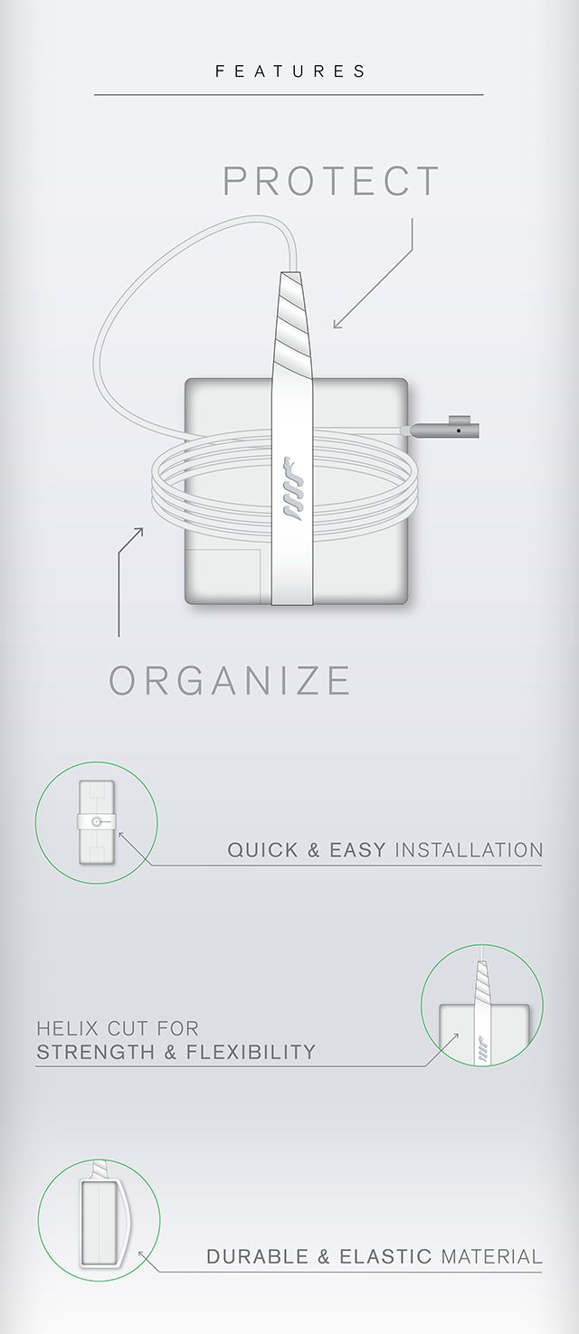 Prevent your Mac, PC, and Tablet chargers from breaking, all while keeping things organized.