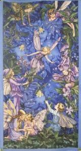 Nocne elfy-panel- tkanina bawelniana