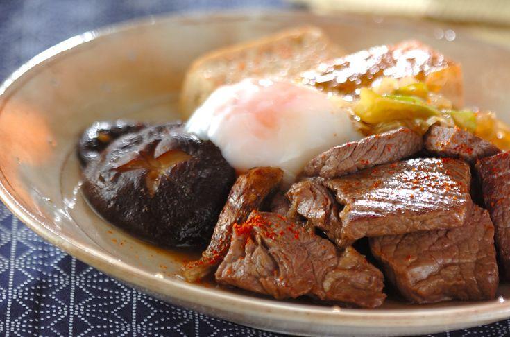 すき焼き風ステーキのレシピ・作り方 - 簡単プロの料理レシピ | E・レシピ