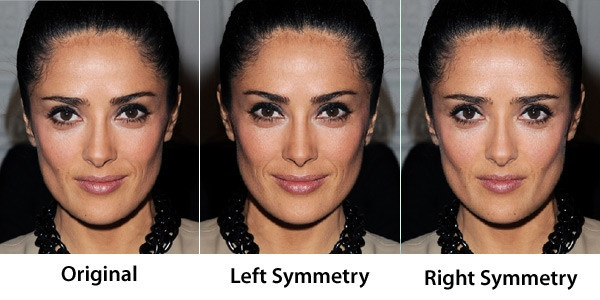 """Many of our most famous faces prove that the old """"perfect symmetry"""" beauty rule can (and should) be broken. In this gallery, we've flipped the pictures of your favorite stars to see what they'd look like if one side of their face was exactly the same as the other—aka perfect symmetry.Weird, right?    MORE: Makeup Tips for Facial Symmetry"""