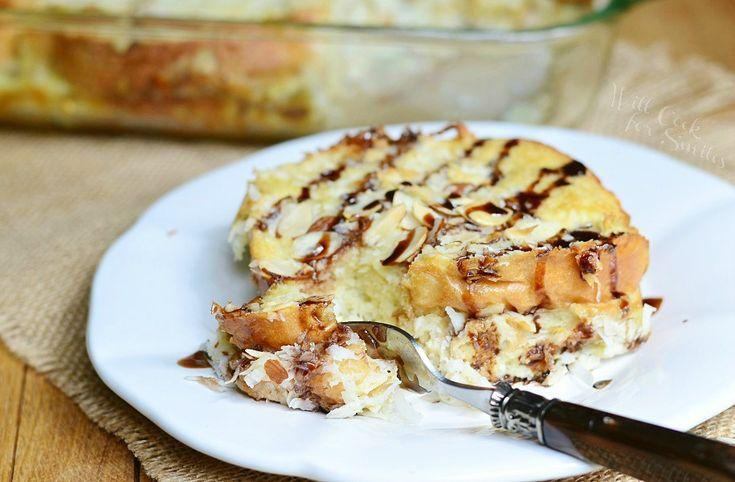 Almond-joy-overnight-french-toast-bake.- French Toast Bake ...