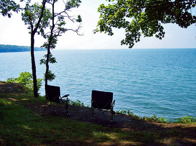 South Bass Island State Park Campsite And Rv Camping On