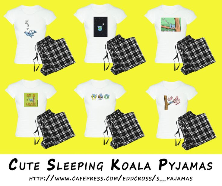 !! Cute Sleeping Koala Pyjamas !!  I am often asked if there are pyjamas with my cute Aussie wildlife characters on. And yes, over in my CafePress store you can get pyjamas featuring all my designs on.