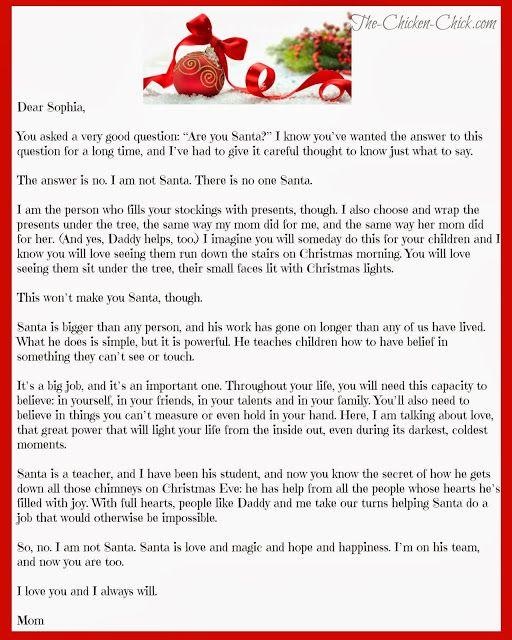Letter About Santa Demozaiektuin