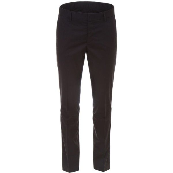 Slim Chino Trousers ($380) ❤ liked on Polyvore featuring men's fashion, men's clothing, men's pants, men's casual pants, men's casual cotton pants, mens slim fit chino pants, mens chinos pants, mens cotton pants and mens lightweight cotton pants
