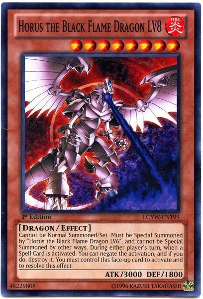 YuGiOh Legendary Collection 3 Common Horus the Black Flame Dragon LV8 LCYW-EN199