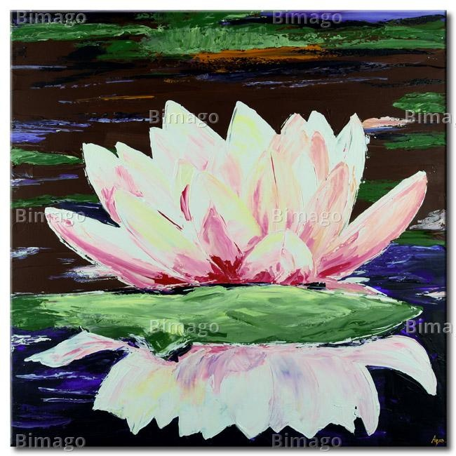 Giglio d'acqua, dipinto su tela // Water lily, painting on canvas