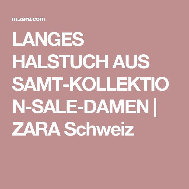 LANGES HALSTUCH AUS SAMT-KOLLEKTION-SALE-DAMEN | ZARA Schweiz