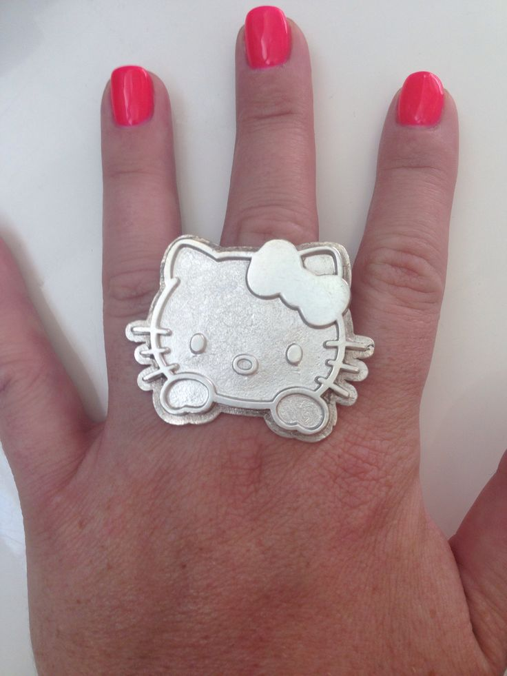 Sterling Silver Hello Kitty Ring -1