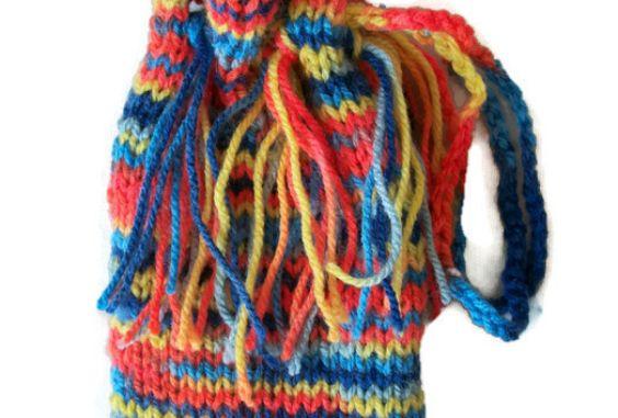 Festival Tarot Bag- Hand Knitted