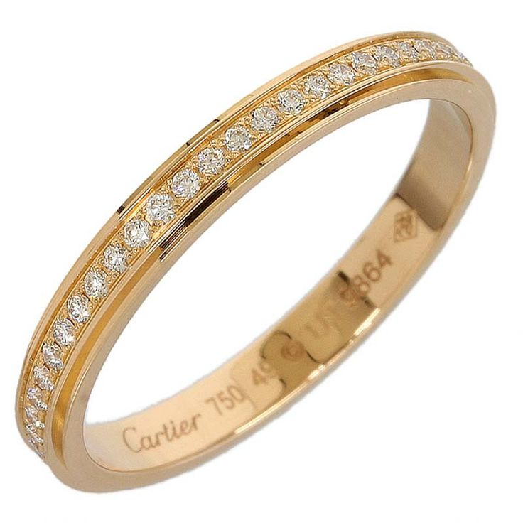Cartier 18K Pink Gold Full Diamonds Ring US SIZE 4.75                                                                                                                                                                                 More