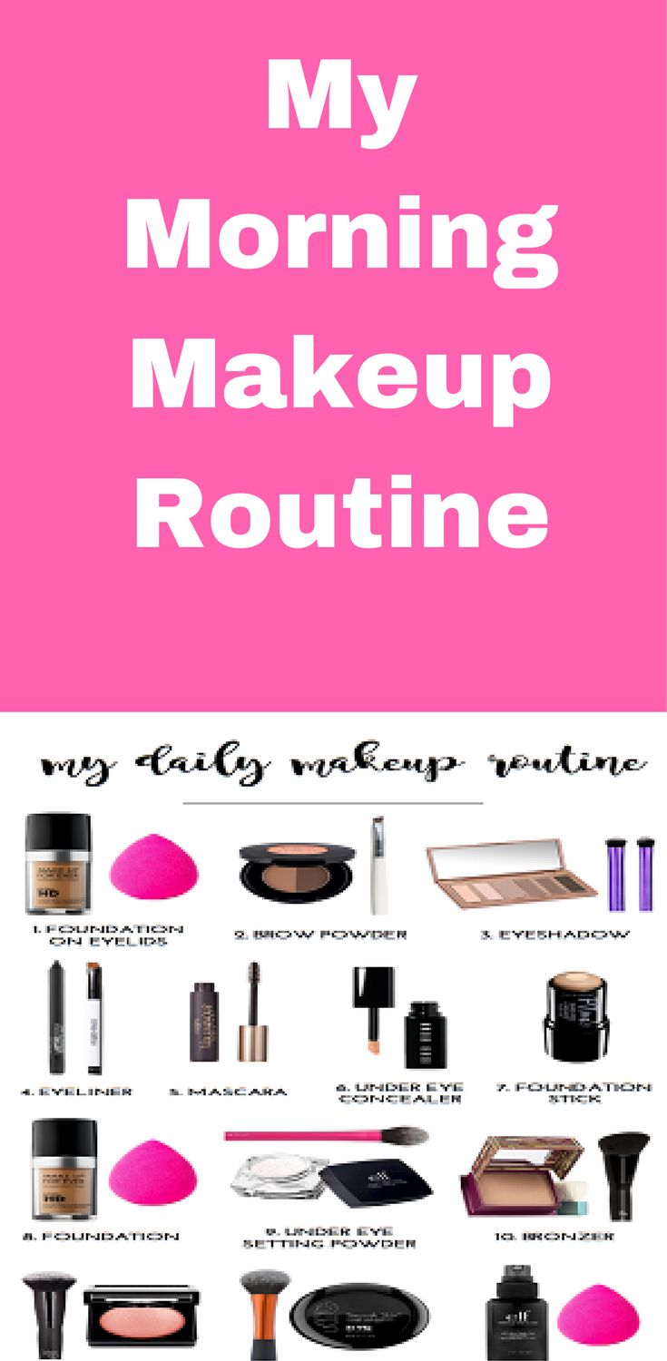 My morning makeup routine.