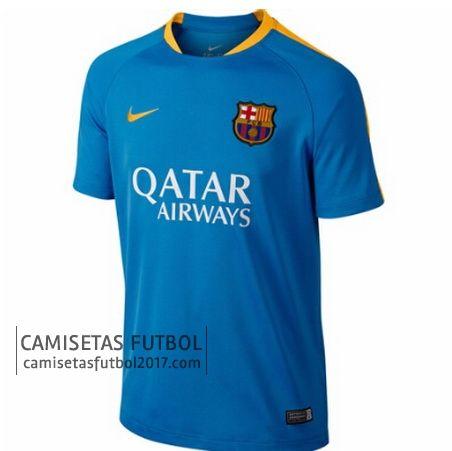 Camiseta de entrenamiento azul Barcelona 2015 2016 | camisetas de futbol baratas