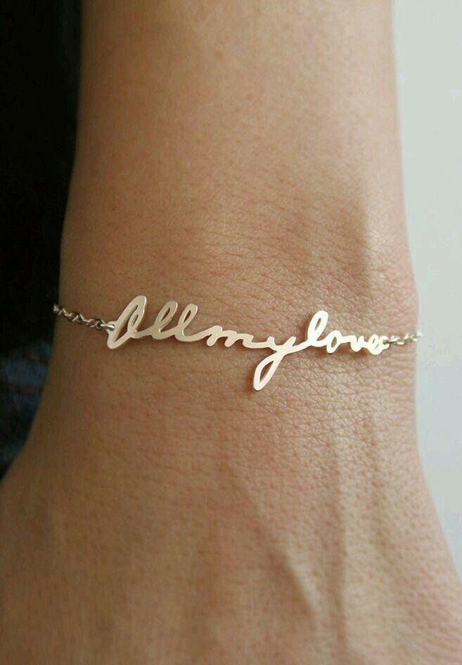Custom hand written bracelet. Cute wedding gifts!