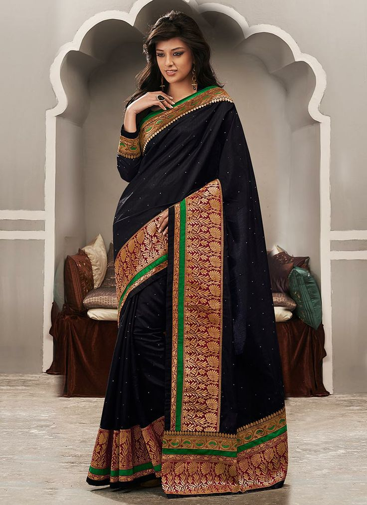 Grand Look Embroidered Silk Saree