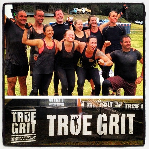 """Our Dangerous Mudders did their """"warm up"""" for Tough Mudder this Week-end. They smashed the True Grit military circuit in less than 2 hours! lot's of mud, lot's of fun. Awesome team work all the way through, they are more than ready for the big day in October! Well done Mudders, you guys rock! http://www.dangerouslyfit.com.au/"""