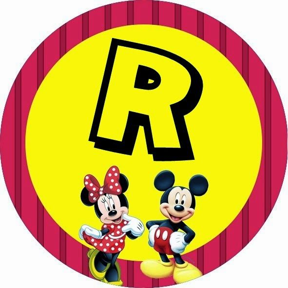Oh my Alfabetos!: Alfabeto de Minnie y Mickey especial para Fiestas.