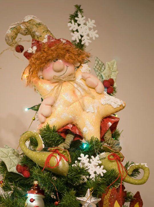 Aquí es... elf para su árbol de Navidad.  Este patrón en inglés! Mis e-patrones llamé ForgetMeNot, hay imágenes con paso a paso del proyecto y son muy fáciles de entender. Envíeme por correo electrónico con cualquier pregunta.  www.ilmondodellenuvole.It feliz trabajo! Hiedra