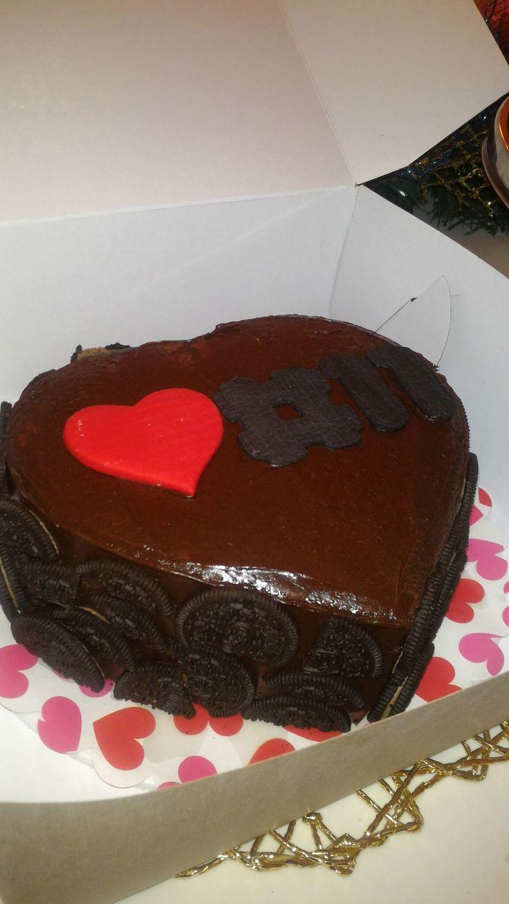 Torta corazón chocolate