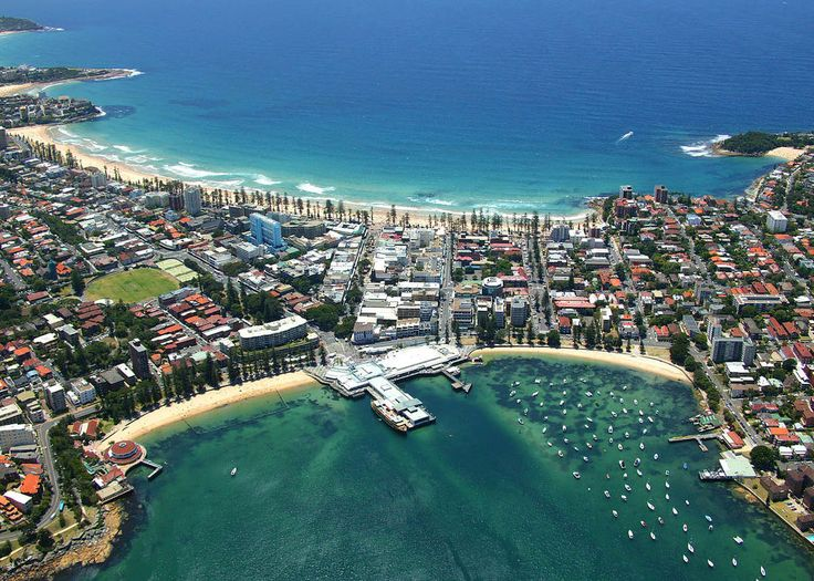 Aerial shot of Manly, Sydney NSW.