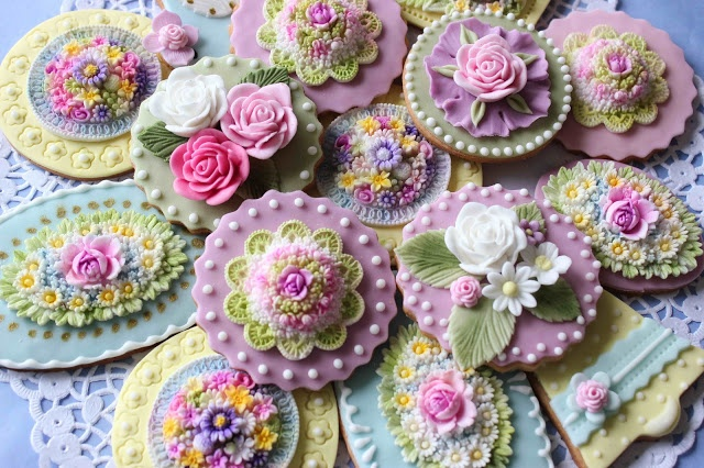 Bubolinkata: Честита първа пролет!Cookies Art, Biscotti Decoratie, Sugar Cookies, Cookies Decor, Flower Cookies, Decor Cookies, Cake Decs, Teas Parties, Fancy Cookies