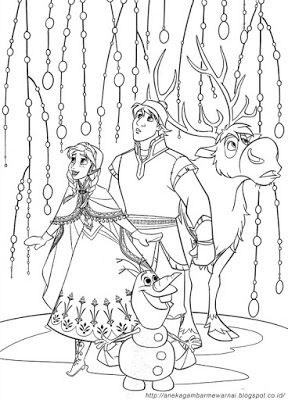 Aneka Gambar Mewarnai - Gambar Mewarnai Frozen Untuk Anak PAUD dan TK.   Pelajaran menggambar dan me...