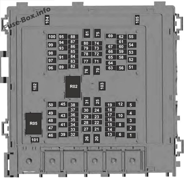 under-hood fuse box diagram: ford f-150 (2018, 2019) | fuse box, ford f150, fuse  panel  pinterest