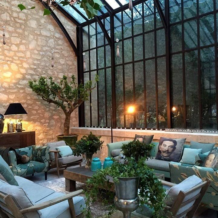Informal entertaining area indoors