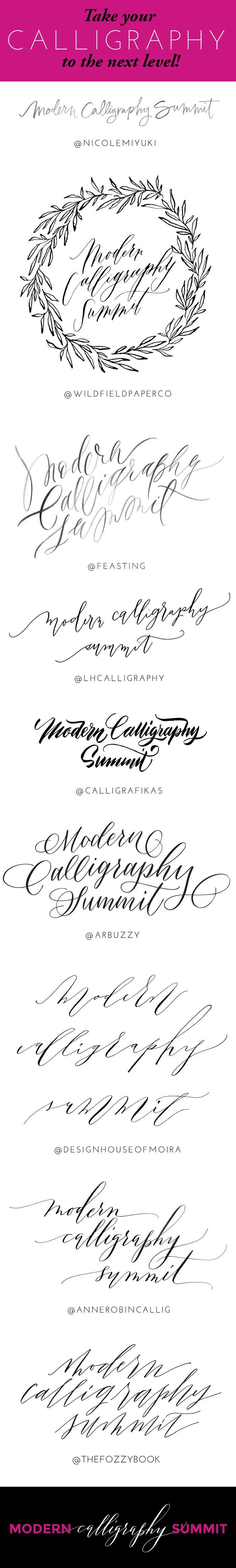 Modern Calligraphy Summit - Online calligraphy workshops