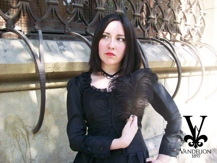 Jacket, corset and choker by Vandelion 1897 Model: Mariana Gutierrez