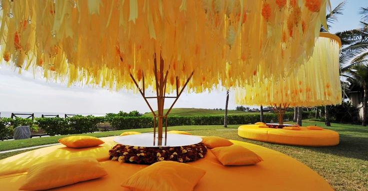 Preston Baileys installation are perfect to add the drama.  #Pinned by Devika Narain #India #Wedding