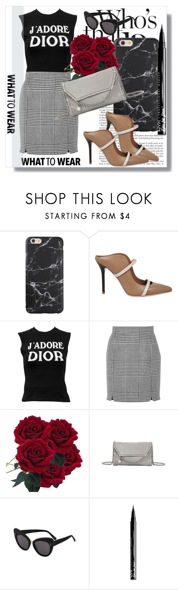 """""""Monnier Freres !!"""" by dianagrigoryan ❤ liked on Polyvore featuring Malone Souliers, Christian Dior, Pierre Balmain, STELLA McCARTNEY and NYX"""