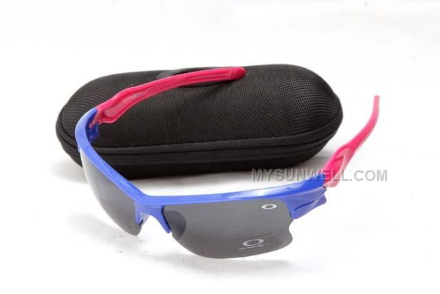 www.mysunwell.com... Only$25.00 CHEAP OAKLEY FAST JACKET SUNGLASS ROYAL BLUE ROSE FRAME BLACK LENS ON SALE Free Shipping!