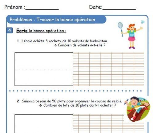CE1 - Fichier de problèmes - (page 3) - L'école de Crevette