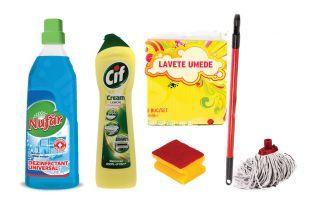 Un pachet complet de curăţenie pentru baie la doar 29.90 lei + TVA. Nufăr Dezinfectant Universal ajută la curăţarea şi dezinfectarea suprafețelor și a obiectelor din întreaga casă. Are o acțiunea bactericidă și fungicidă ce asigură igiena suprafețelor dezinfectate în profunzime.