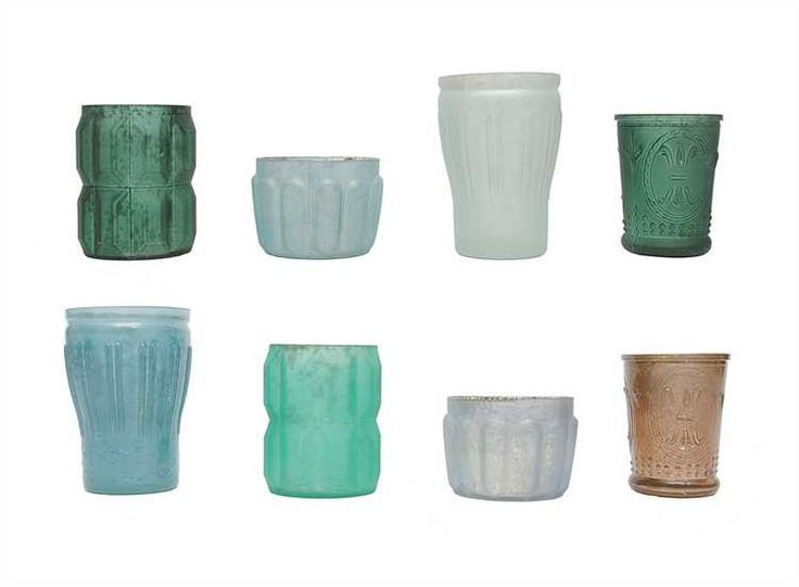Mercury Glass Votive Candle Holders Shades Of Blue Set Of 8 Country Casual Home Decor
