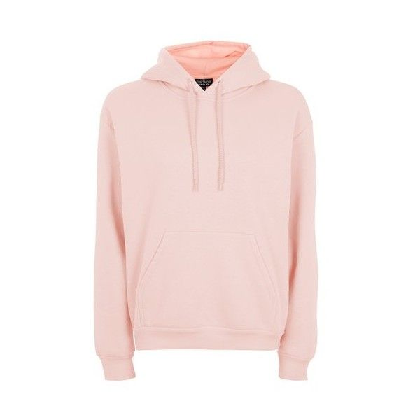 Topshop Petite Oversized Hoodie ($32) ❤ liked on Polyvore featuring tops, hoodies, blush, cotton hooded sweatshirt, oversized hoodies, layered tops, hooded sweatshirt and pink hoodie